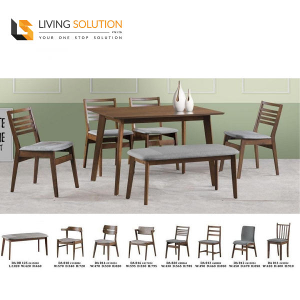 Theo Wooden Dining Table and Chair Set