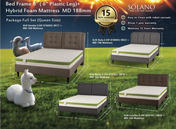 Solano Mattress and Bed Frame Package