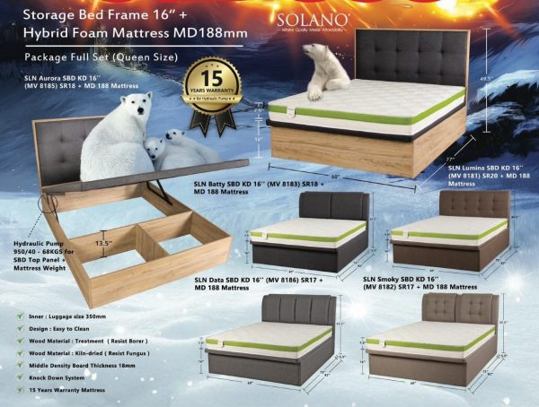 Solano Mattress and Storage Bed Frame Package