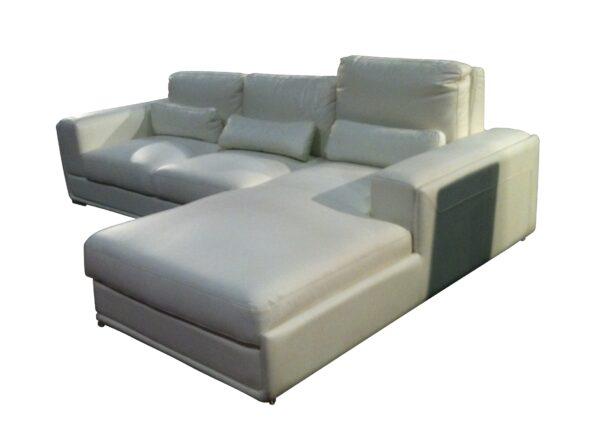 Sterli L Shape High Adjustable Leather Sofa