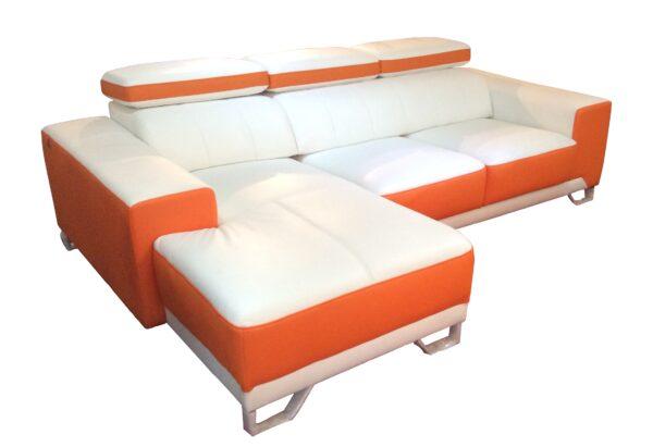 Eros L Shape Half Leather Sofa