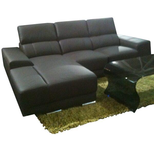Exo L Shape Half Leather Sofa