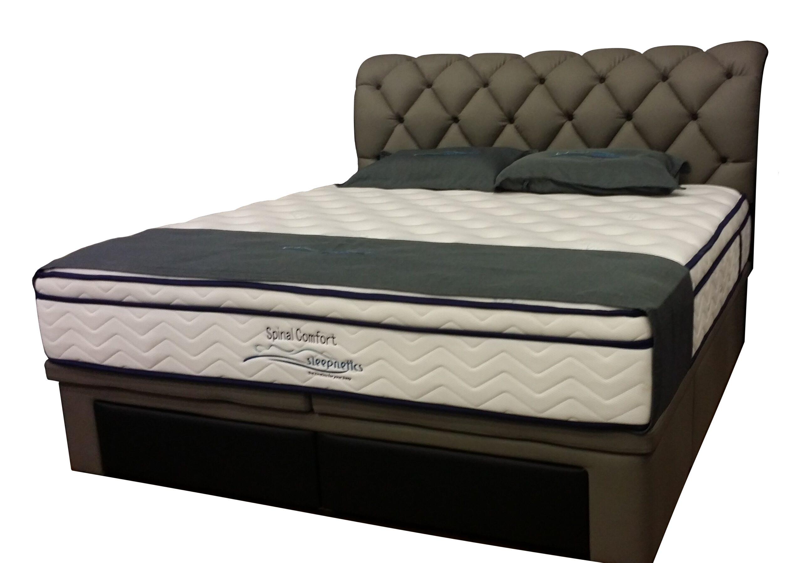 Timber Fabric Designer Storage Bed Frame
