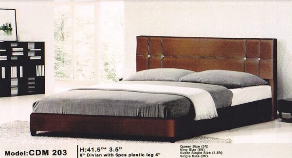 Elaine Divan Contemporary Bed Frame