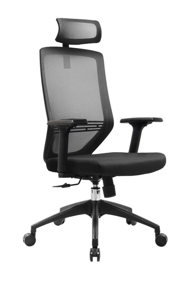 Ara High Back Mesh Black Executive Ergonomic Office Chair with Headrest