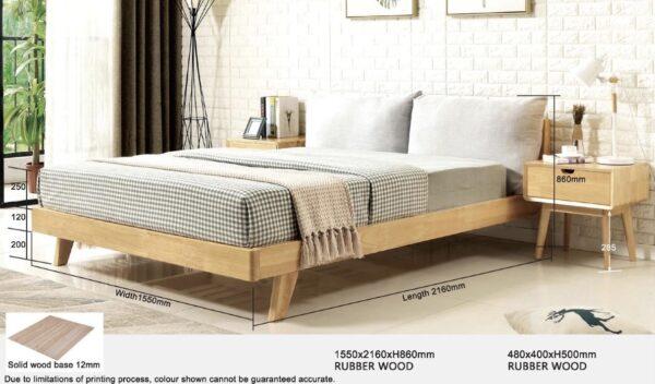 Arca II Wooden Bed Frame