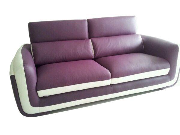 Boreas 3 Seater Half Leather Sofa