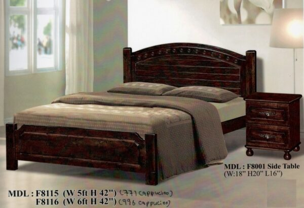 Ciro Solid Rubber Wood Bed