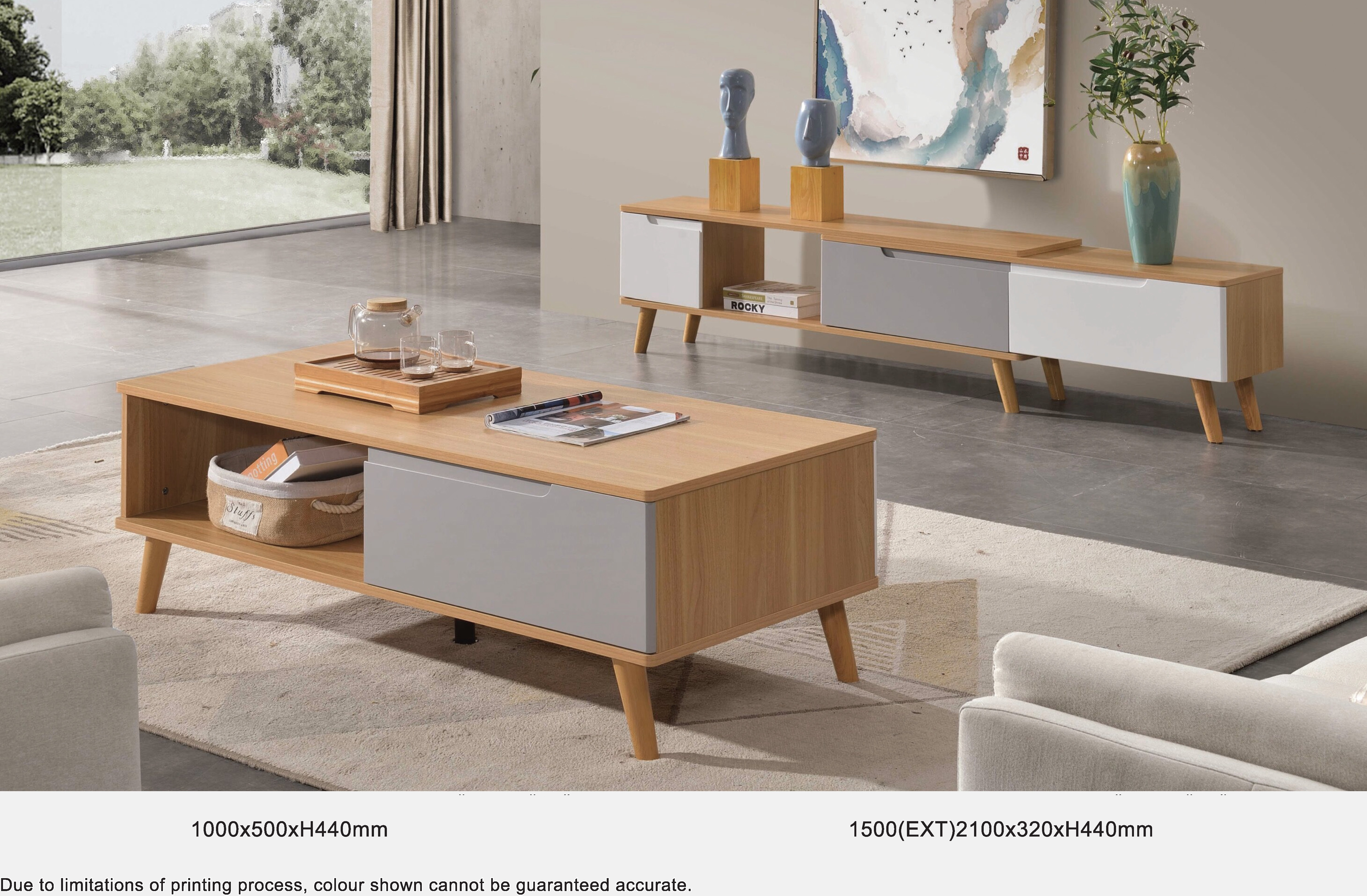 Clemen TV Console / Coffee Table