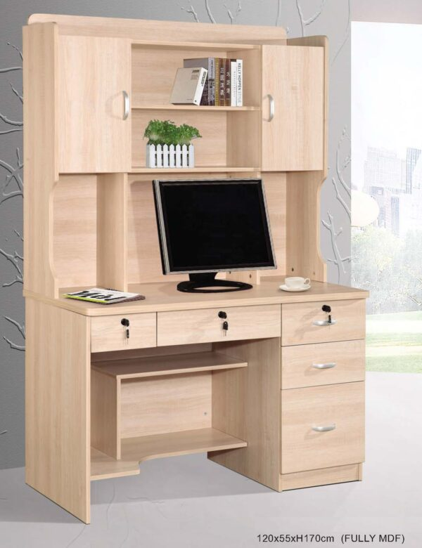 Cuby Study Table with Shelving and Drawers