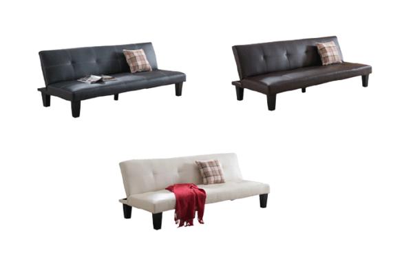 Fox PU Leather Sofa Bed