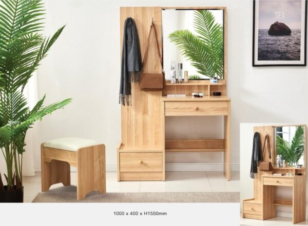 Gemmi Dressing Table with stool
