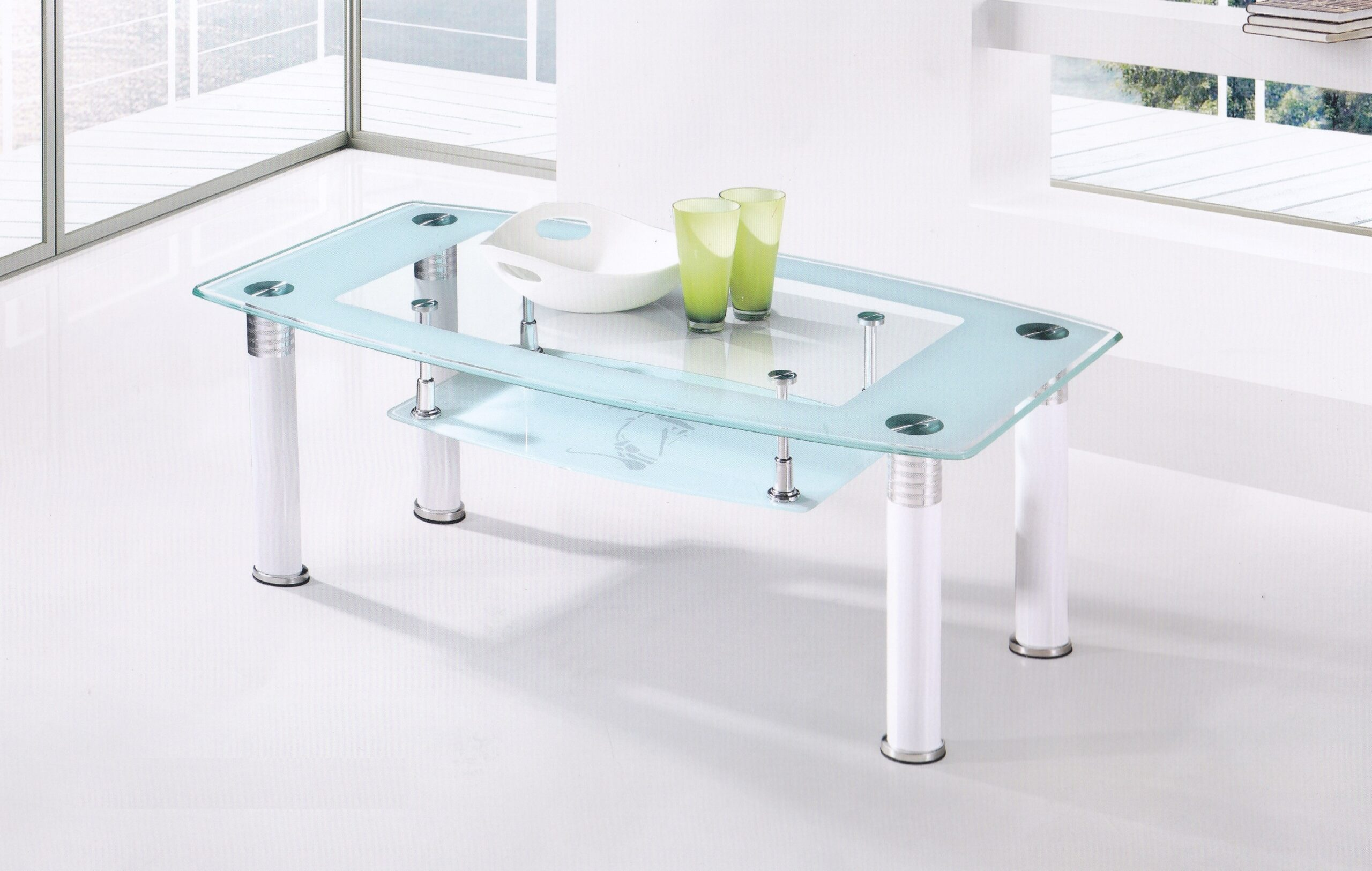 Hilltop Glass Coffee Table
