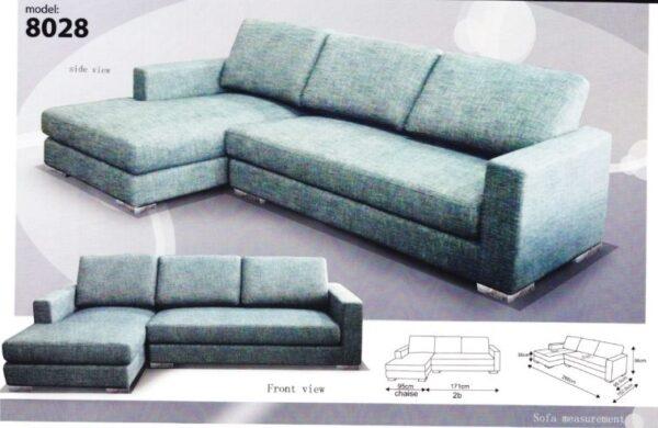 Hitz Fully Detachable L Shape Fabric Sofa
