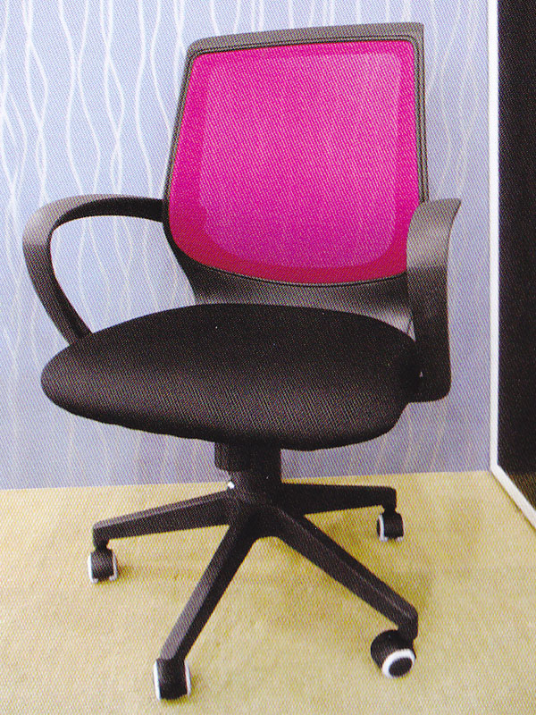 Hot Pink Mesh Black Office Chair