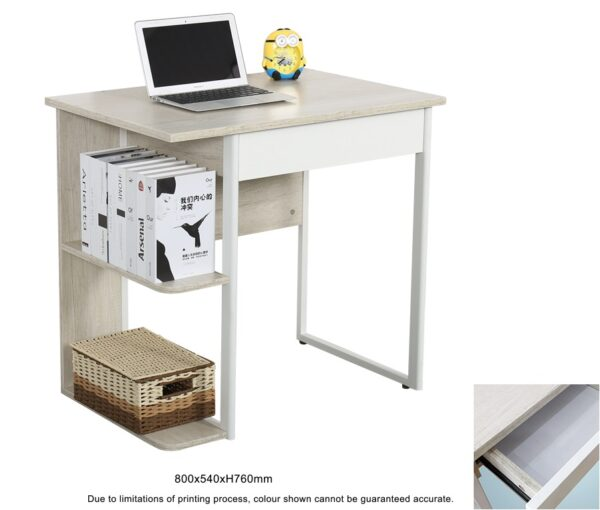 Jerni Study Table with Shelf and Drawer
