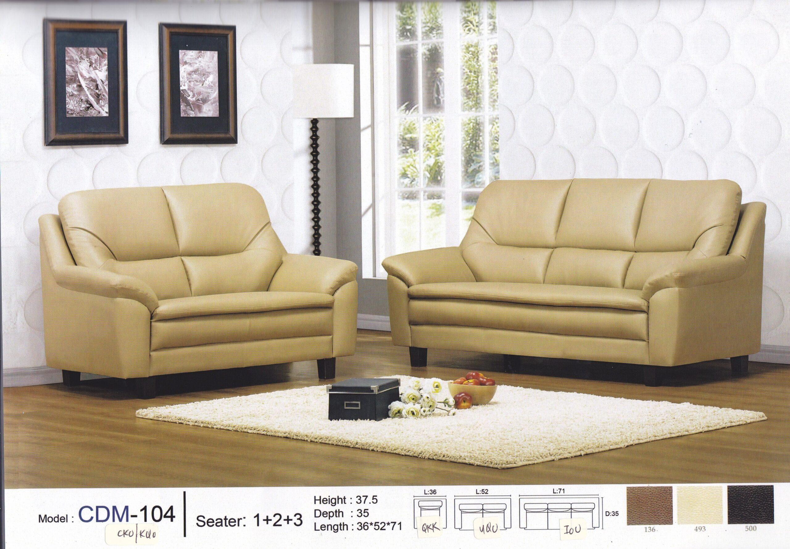 Loius 3+2 PVC Sofa