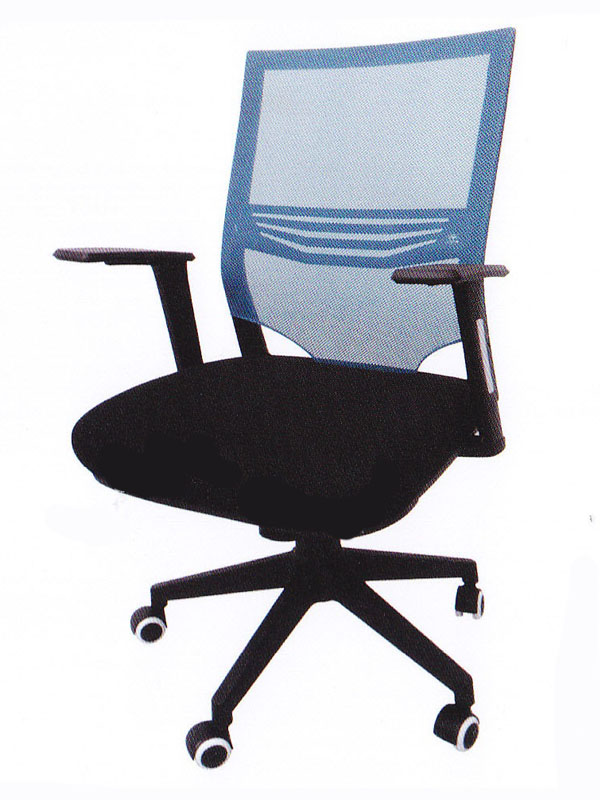 Low Back Blue Mesh Black Office Chair