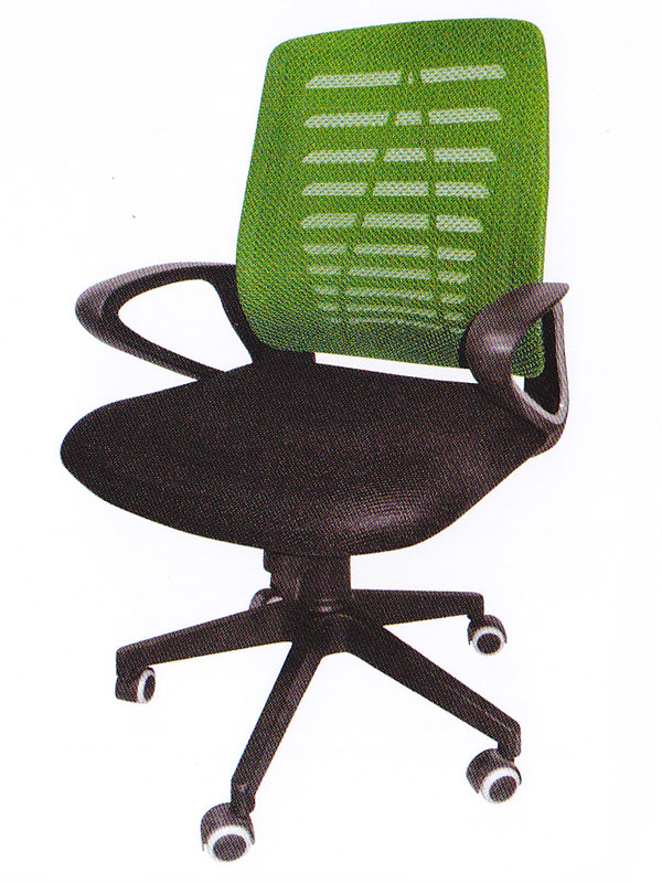 Low Back Green Mesh & Black Office Chair