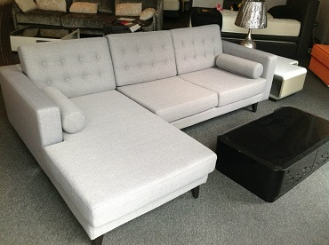 Lynnette L Chaise Fabric Sofa
