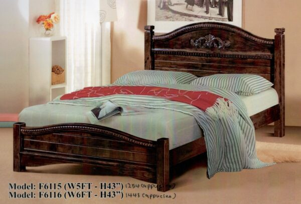 Rori Solid Rubber Wood Bed