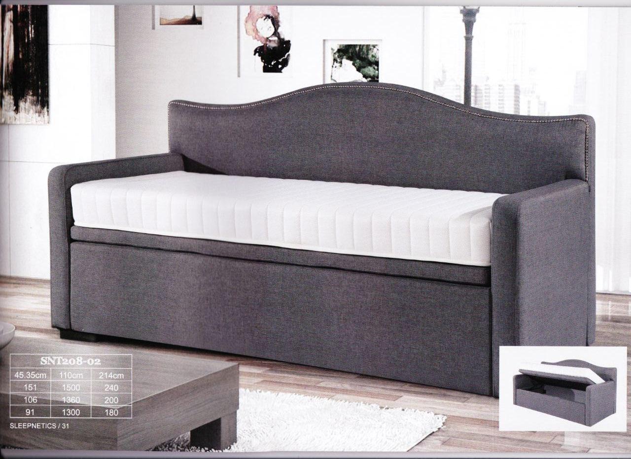 SNT 208-02 Junior Bed with Side Flip Storage