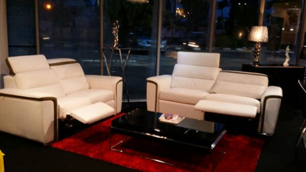 Sherlock Half Leather Recliner Sofa