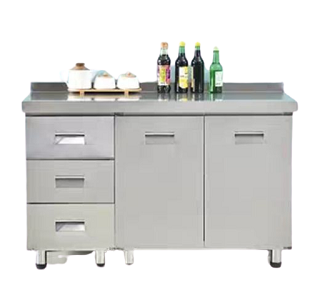 Stein 2 Door with 3 Drawers Full Stainless Steel Kitchen Cabinet