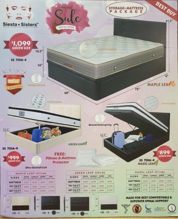 Storage Bed Frame + Mattress Package