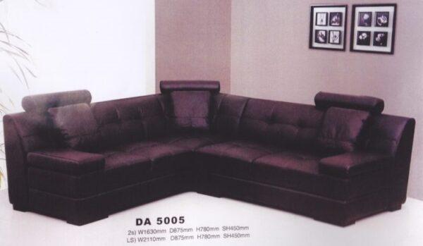 Vikie PVC High Back L Shape Sofa