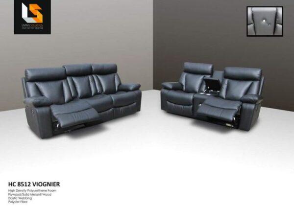 Viognier Manual Recliner Leather Sofa