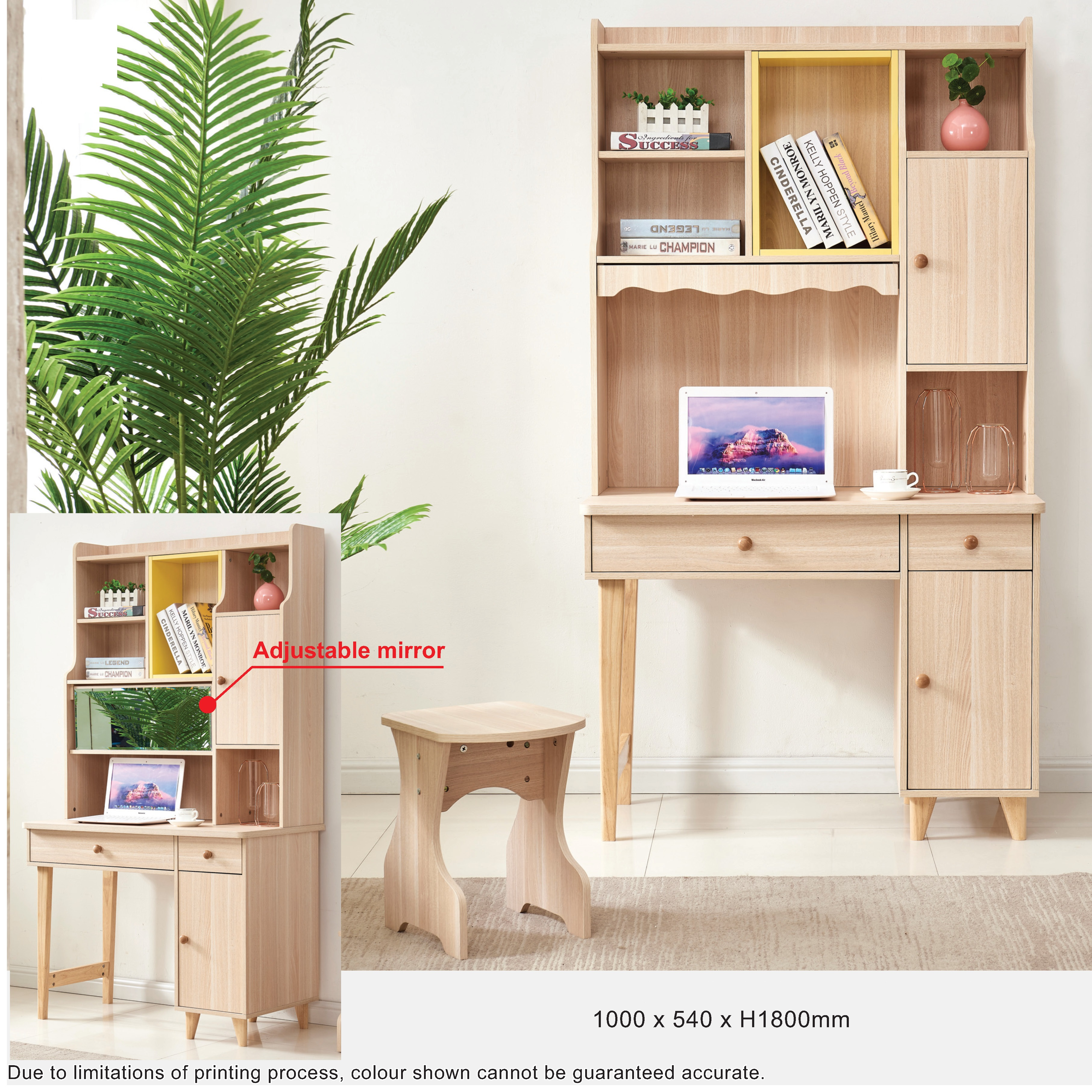 Weivz Study Table with Shelving
