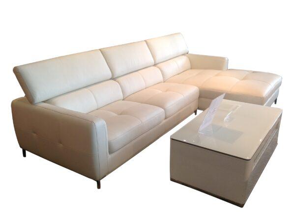 Attis L Shape Mastrotto Italia Half Leather Sofa