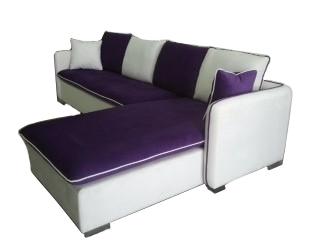 Burg L Shape Fabric Sofa