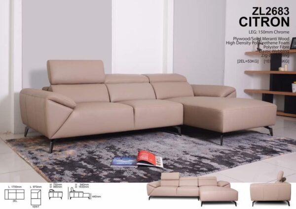 Citron Mastrotto Italia Leather Sofa