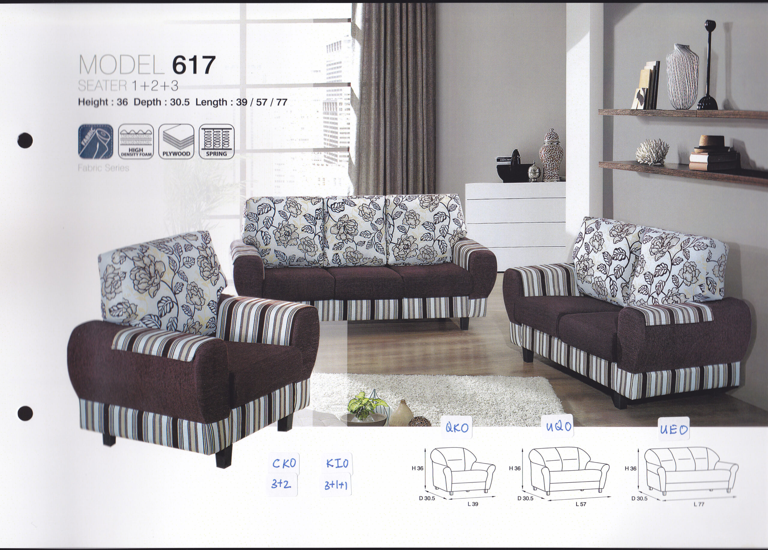 Donna Fabric Sofa