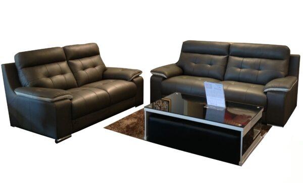 Elise II High Back Half Leather Sofa