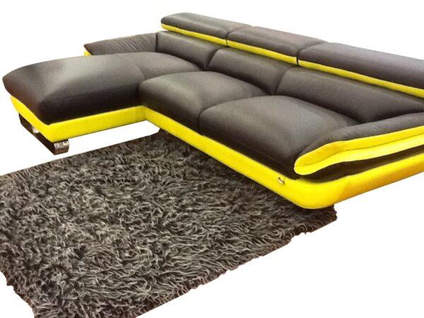 Helios L Shape Half Leather Sofa