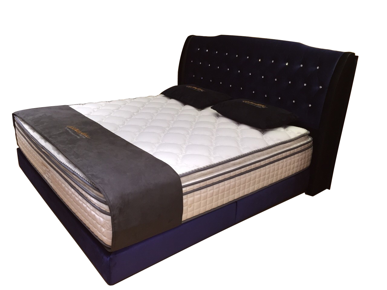 Barry Chesterfield with Crystal Designer Divan Bed Frame