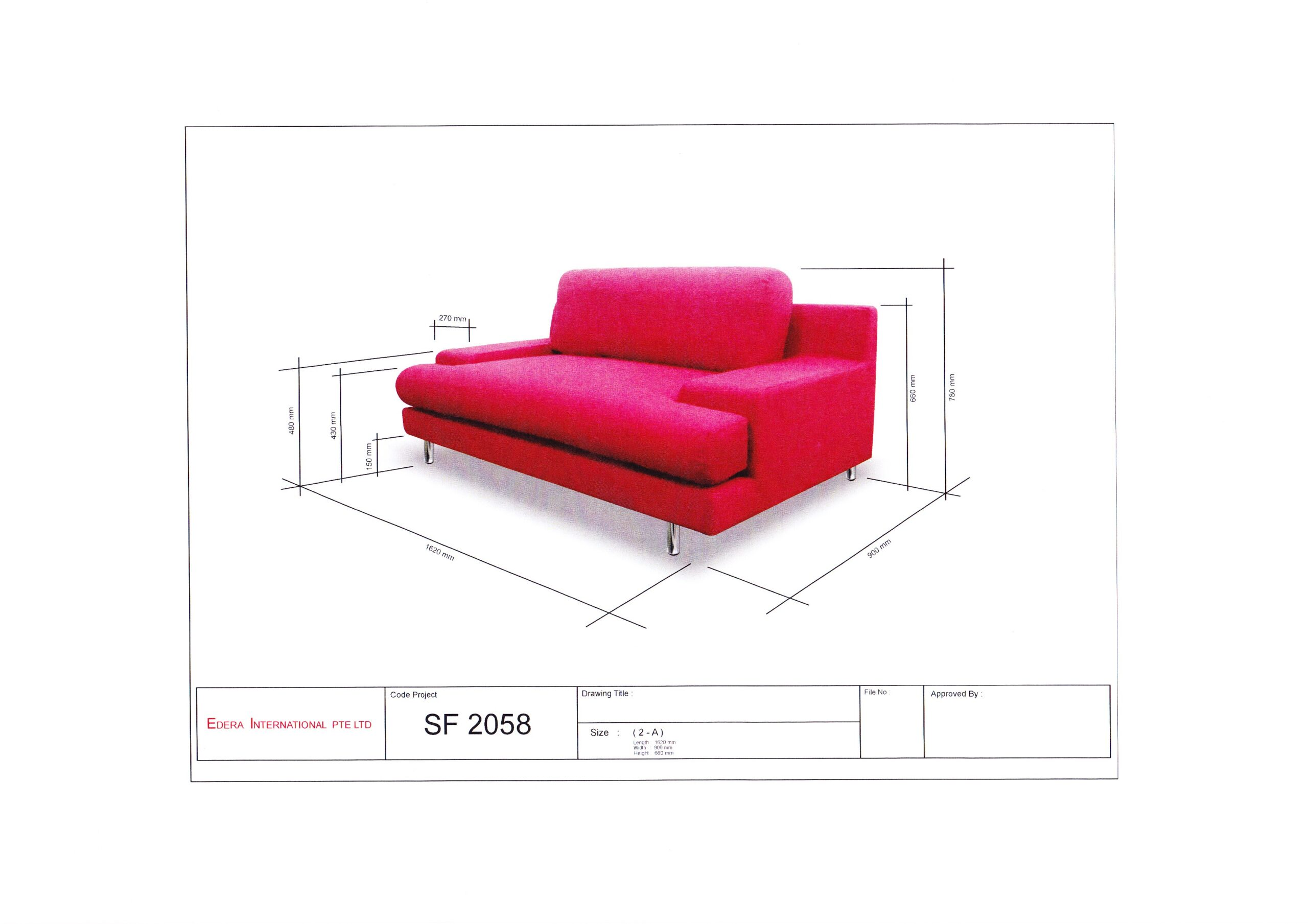 Italia Fabric Sofa Solid Nyatoh Wood Structure