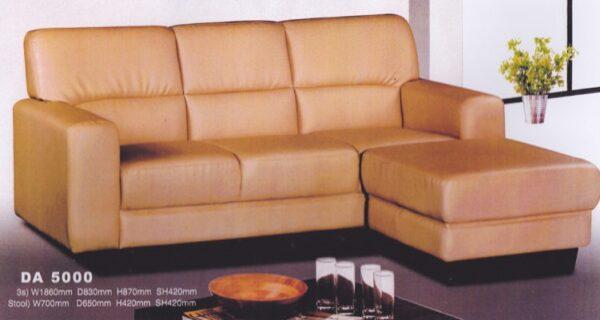 Kanpe PVC Sofa with Ottoman