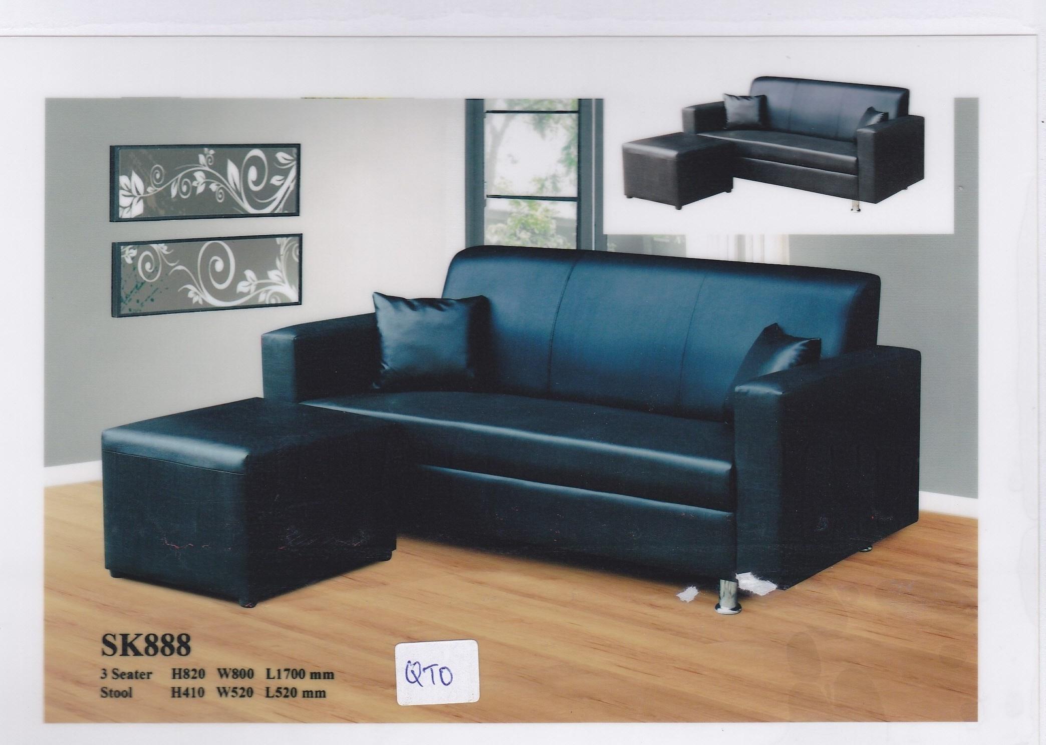 Mela PVC Sofa with Ottoman