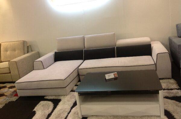 Myra L Shape Fabric Sofa