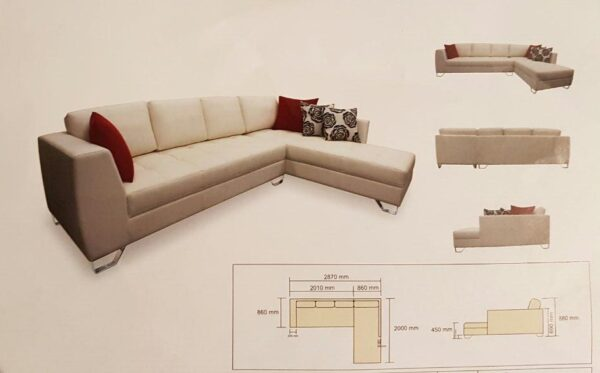 Mofly L Shape Fabric Sofa