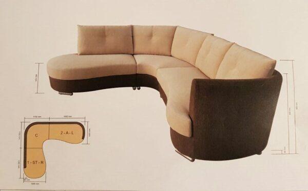 Curvi Corner L Fabric Sofa