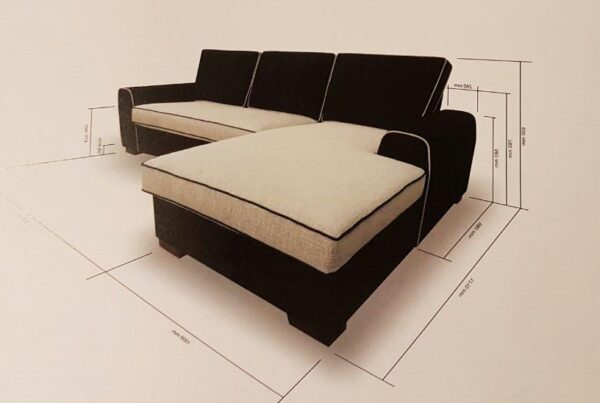 Bia L Shape Fabric Sofa