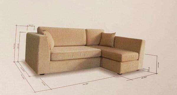 Pallio L Shape Fabric Sofa
