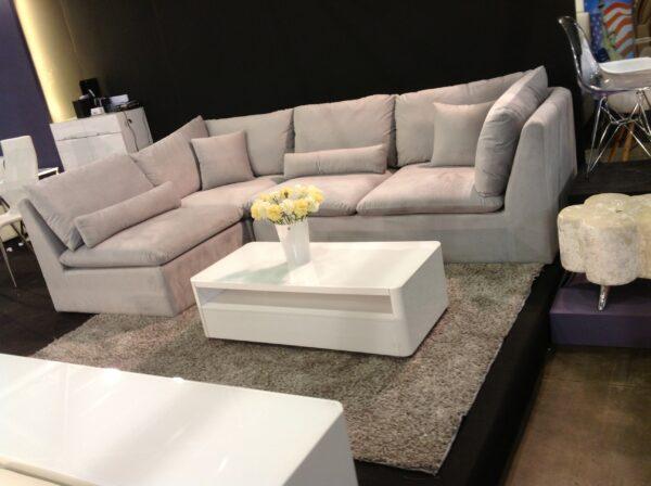 Silva L Shape Fabric Sofa