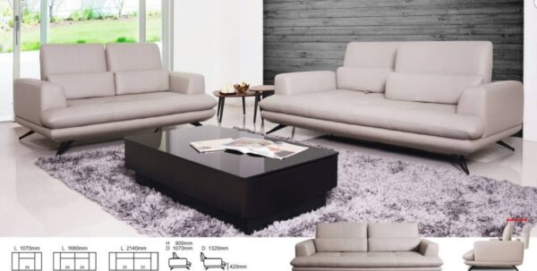 Zona Half Leather Mastrotto Italia Leather Sofa