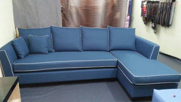 Aveley L Shape Fabric Sofa